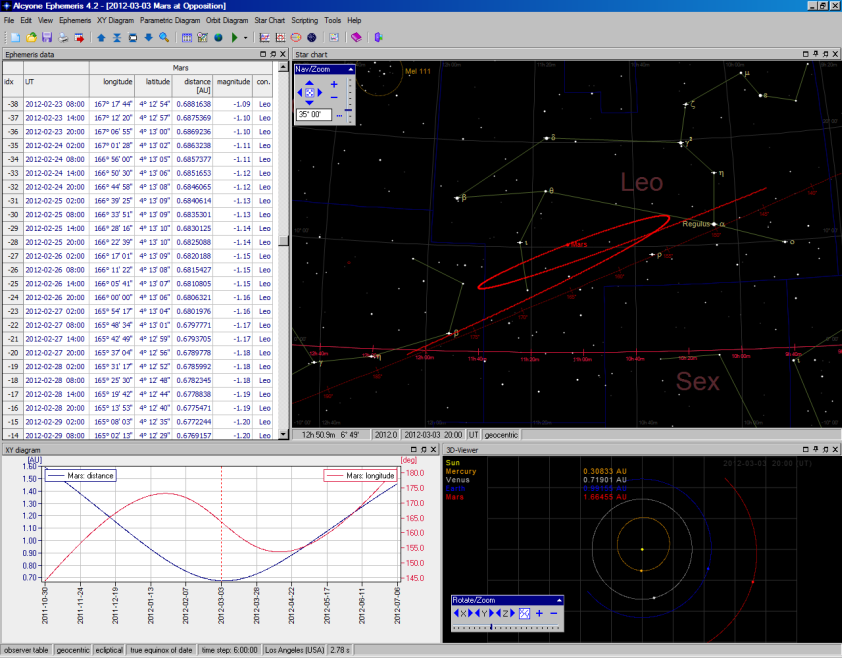 Alcyone Astronomical Software - ephemeris software