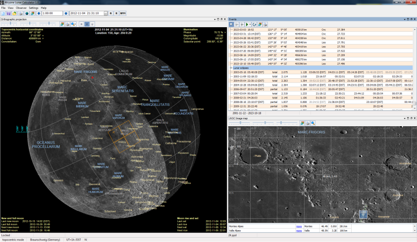 Alcyone Lunar Calculator Screenshot